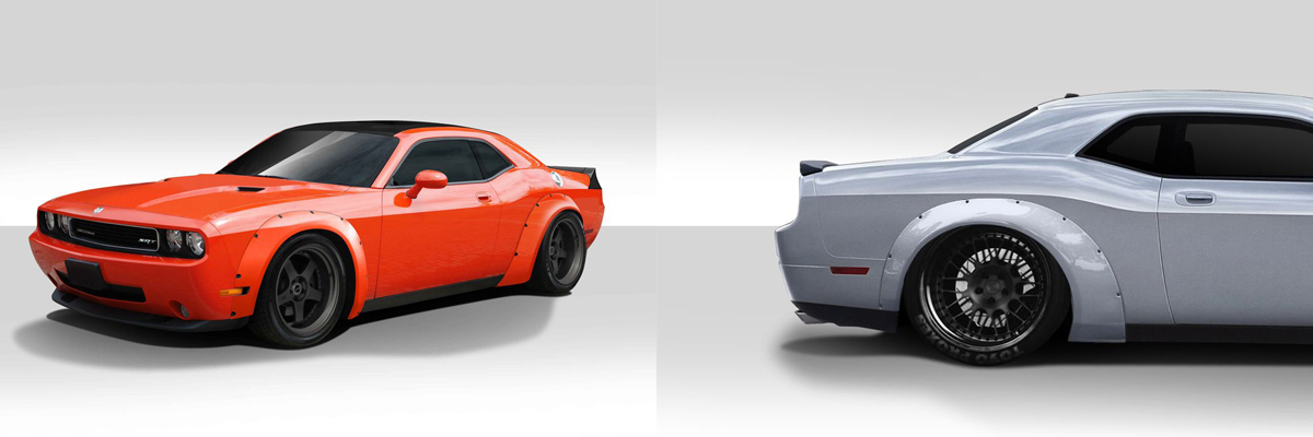 Dodge Challenger Duraflex Novara Wide Body Kit